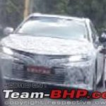 2019 Toyota Camry Front Three Quarters Spy Shot In