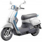 Kymco Like 110 Ev Front Left Quarter Press Image