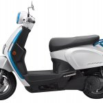 Kymco Like 110 Ev Left Side Profile Press Image