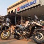 Suzuki V Strom 650xt Mumbai Dealership Live Images