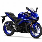 2019 Yamaha R3 Images Front Three Quarters Blue Of