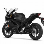 2019 Yamaha R3 Images Rear Three Quarters Black Of