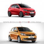Tata Tiago Jtp Vs Tata Tiago Front Three Quarters