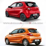 Tata Tiago Jtp Vs Tata Tiago Rear Three Quarters