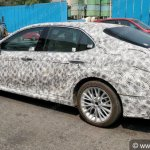Eighth Gen Toyota Camry Left Side Spy Photo India