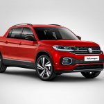 Vw T Cross Pickup Front Three Quarters Rendering