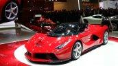 La Ferrari Geneva motor show live front quarter closeup