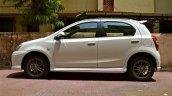 Side profile of the refreshed Toyota Etios Liva