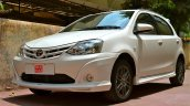 Toyota Liva TRD Sportivo's front bumper is overdone