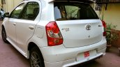 Rear profile of the refreshed Toyota Etios Liva