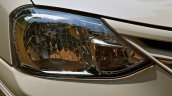 Redesigned front head lamp on refreshed Toyota Liva