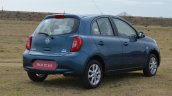 2013 Nissan Micra rear quarter view