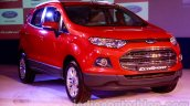 Ford EcoSport launched in India Mars Red front three quarter