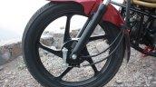 Front wheel of the Mahindra Centuro