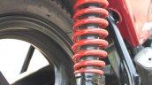 Rear suspension of the Mahindra Centuro