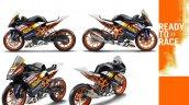 KTM RC390 superbike