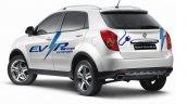 Ssangyong Korando C EV-R rear three quarters