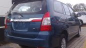 Toyota Innova facelift rear spied in India