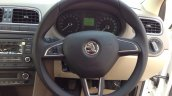 New 2014 Skoda Rapid steering wheel