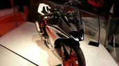 KTM RC390 front three quarters left