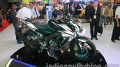 Bajaj Pulsar 200NS front three quarters Metallic white and Ebony black dual tone colour