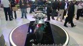 Bajaj Pulsar 200NS rear Metallic white and Ebony black dual tone colour