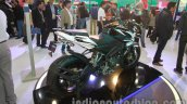 Bajaj Pulsar 200NS rear three quarters Metallic white and Ebony black dual tone colour