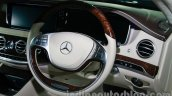 2014 Mercedes Benz S Class launch images steering wheel image