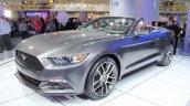 2015 Ford Mustang Convertible at 2014 NAIAS front quarter 3