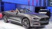 2015 Ford Mustang Convertible at 2014 NAIAS front quarter