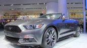 2015 Ford Mustang Convertible at 2014 NAIAS front three quarters