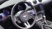 2015 Ford Mustang Convertible at 2014 NAIAS steering wheel