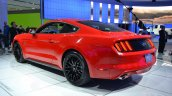 2015 Ford Mustang GT red rear three quarters left at NAIAS 2014