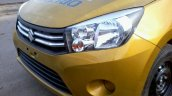 Maruti Celerio demo car spyshot grille and headlamps