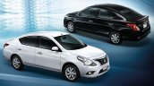 Nissan Sunny facelift profile press image