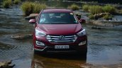 2013 Hyundai Santa Fe Review front in water