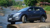 2013 Hyundai Santa Fe Review front quarter left