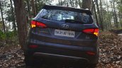 2013 Hyundai Santa Fe Review rear with lights