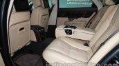 2014 Jaguar XJ rear seat legroom at Auto Expo 2014