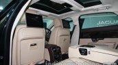 2014 Jaguar XJ rear seating at Auto Expo 2014