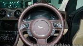2014 Jaguar XJ steering wheel at Auto Expo 2014