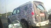 2014 Mahindra Scorpio facelift Chennai spied rear quarter