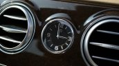 2014 Mercedes S Class review clock