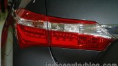 2014 Toyota Corolla taillight at Auto Expo 2014
