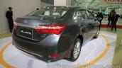 2014 Toyota Corolla rear three quarters right at Auto Expo 2014
