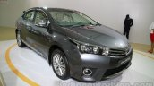 2014 Toyota Corolla front three quarters left at Auto Expo 2014