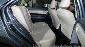 2014 Toyota Corolla rear seat knee-room at Auto Expo 2014