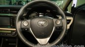 2014 Toyota Corolla steering wheel at Auto Expo 2014