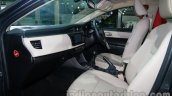 2014 Toyota Corolla front seats at Auto Expo 2014