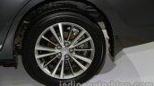 2014 Toyota Corolla alloy wheel at Auto Expo 2014